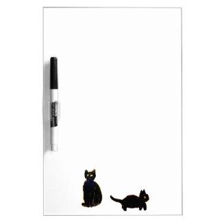 Cute Black Cats Dry-Erase Board