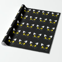 Cute Black Cats Halloween Birthday Wrapping Paper