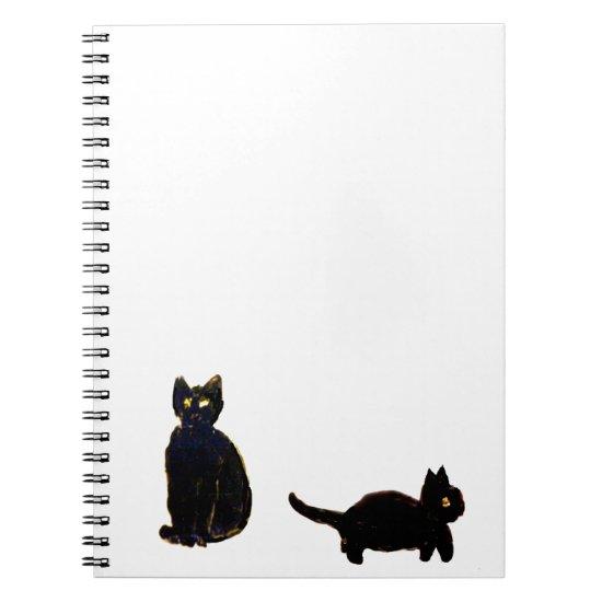 Cute Black Cats Notebook