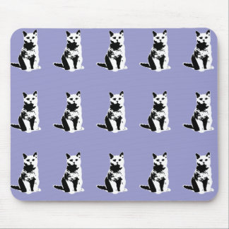 cute black cats patterning mouse pad