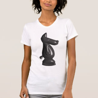 Cute black chess piece short sleeve top tee shirt