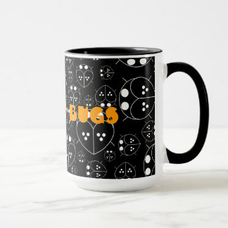 Cute Black coffee love bugs mug