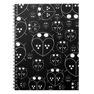 Cute Black color love bug plain notebook