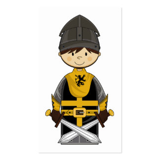 Cute Black Crusader Knight Bookmark Business Cards