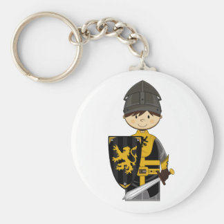 Cute Black Crusader Knight Magnet Keychain