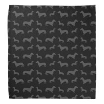 Cute black dachshund pattern bandana