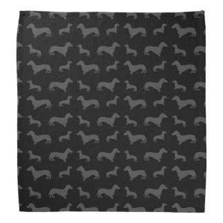 Cute black dachshund pattern bandana