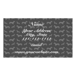 Cute black dachshund pattern Double-Sided standard business cards (Pack of 100)