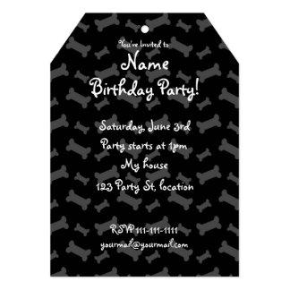 Cute black dog bones pattern 5x7 paper invitation card