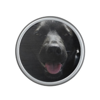 Cute Black Dog Face Bumpster Speakers