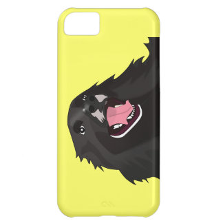 Cute Black Dog With its tongue out - Vector Art iPhone 5C Case