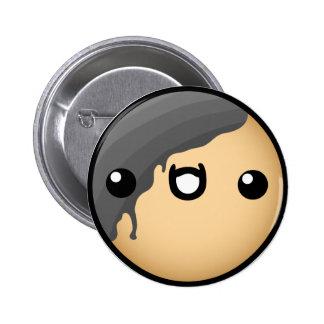 Cute Black Donut Buttons
