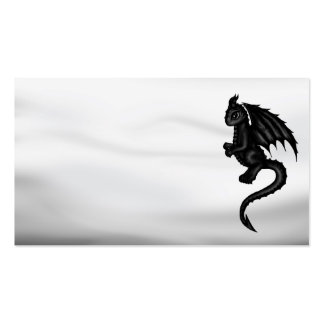 cute black Dragon businesscards Business Cards