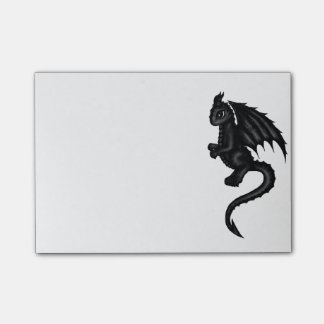 cute black Dragon post it Post-it Notes
