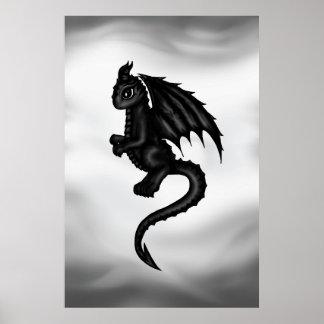 cute black Dragon poster