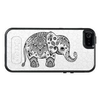 Cute Black Elephant Vintage Paisley Illustration OtterBox iPhone 5/5s/SE Case