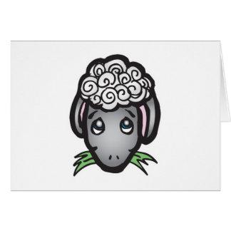 cute black face lamb greeting cards