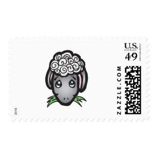 cute black face lamb stamps