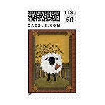 Cute Black Face Sheep Lamb Postage