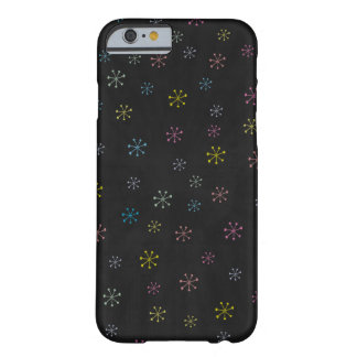 Cute black Flower Doodle Pattern Barely There iPhone 6 Case