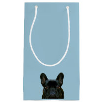 Cute Black French Bulldog Photograph Small Gift Bag