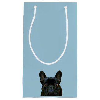 Cute Black French Bulldog Photograph Small Gift Bag