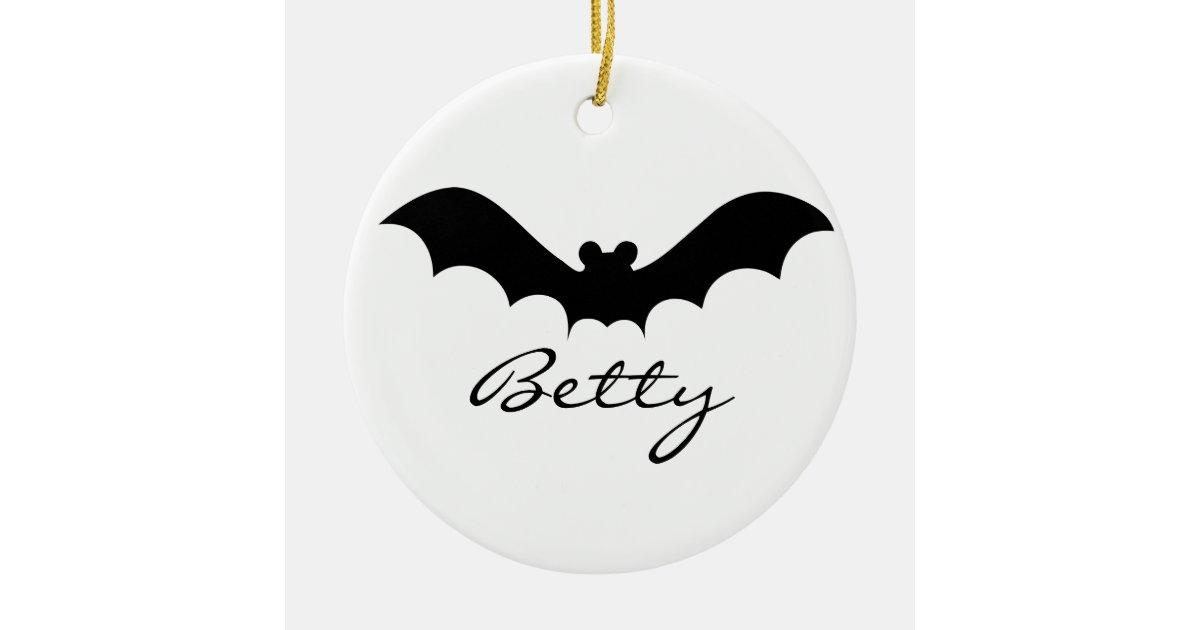 cute black halloween bat silhouette ceramic ornament zazzlecom