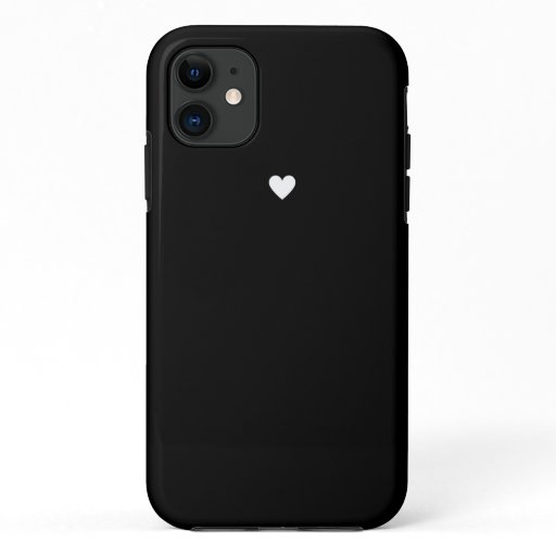 Cute Black Heart iPhone 11 Case