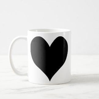 Cute Black Heart Classic White Coffee Mug