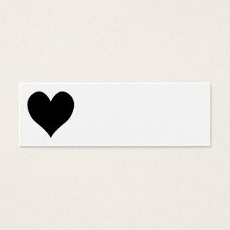 Cute Black Heart Mini Business Card