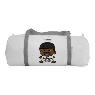 Cute Black Karate Boy Duffel Bag