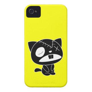 Cute Black Kitty Cat Zombie iPhone 4 Case