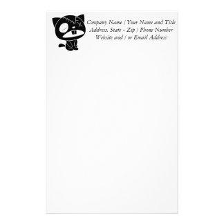 Cute Black Kitty Cat Zombie Custom Stationery