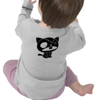 Cute Black Kitty Cat Zombie Tee Shirt