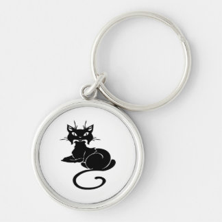 Cute Black Kitty Keychain