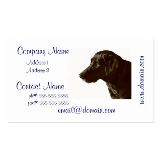 Cute Black Lab Business Cards