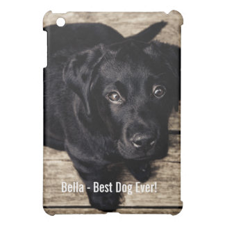 Cute Black Lab Puppy Photo and Dog Name Case For The iPad Mini