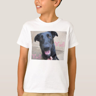 cute black lab with pink accents T-Shirt