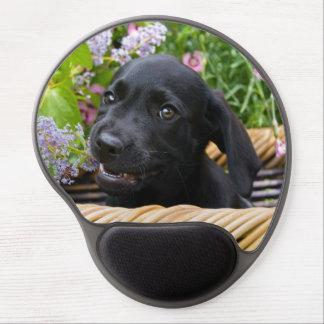 Cute Black Labrador Retriever Dog Puppy Pet Photo Gel Mouse Pad