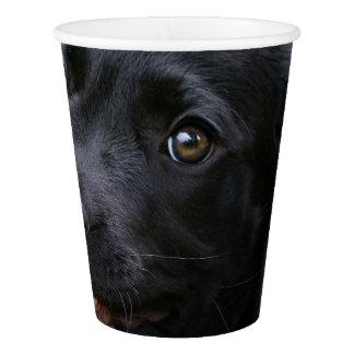 Cute Black Labrador Retriever Dog Puppy Pet Photo Paper Cup