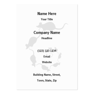 Cute Black Mouse Design. Spiral of Mice. Large Business Cards (Pack Of 100)