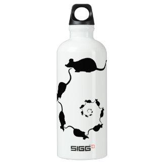Cute Black Mouse Design. Spiral of Mice. SIGG Traveler 0.6L Water Bottle