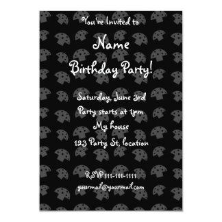 Cute black mushroom pattern 5x7 paper invitation card