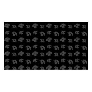 Cute black mushroom pattern business card templates