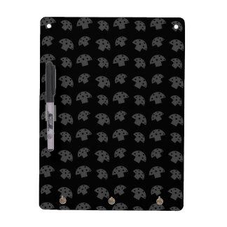 Cute black mushroom pattern dry erase whiteboard