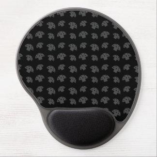 Cute black mushroom pattern gel mouse pad