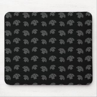 Cute black mushroom pattern mouse pad