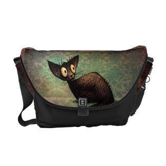 Cute Black Oriental Cat Courier Bag