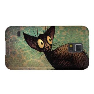 Cute Black Oriental Cat Galaxy S5 Case