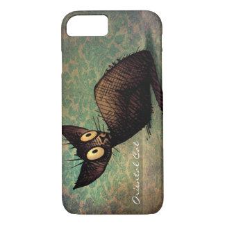 Cute Black Oriental Cat iPhone 7 Case